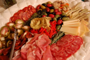Antoinette's Authentic Antipasto on a platter